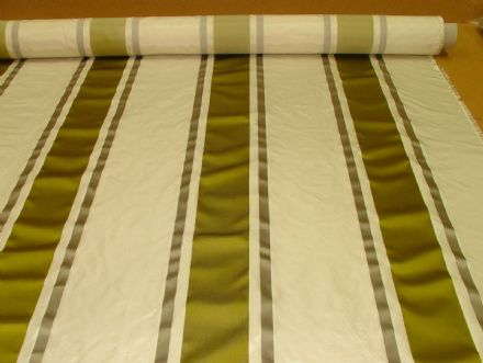 Tatiana Stripe Mimosa 100% Silk fabric